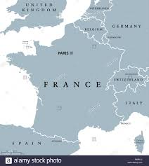 Orleans France Map by France Political Map With Capital Paris National Borders Most