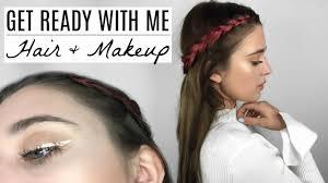 hair makeup get ready with me edc 2017 hair makeup tutorial