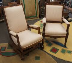 Eastlake Marble Top Bedroom Set 2 Antique Eastlake Walnut Carved Parlor Chairs Victorian Rocker