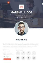 Personal Resume Template 20 Attractive Online Resume Templates