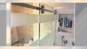 etched sliding shower door youtube