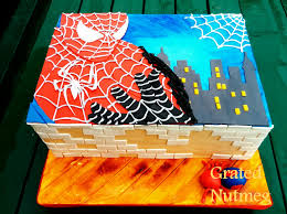 spiderman cake u2013 grated nutmeg