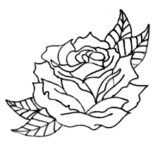 heart rose outline tattoo design photos pictures and sketches