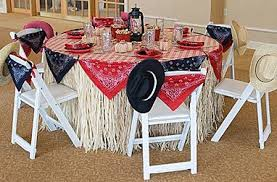 table setting western style i wouldn t use a raffia table skits i would use a brown table cloth