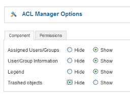 Sho Acl acl manager makes joomla access easier