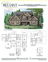 sle floor plans 2 story home reliant homes the brunswick plan floor plans homes homes for