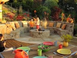 another desert hardy outdoor entertaining area semi circular