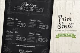 Sheet Templates Chalkboard Price List Sheet Template Templates Creative Market