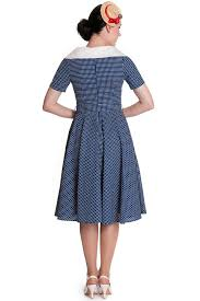 hell bunny claudia 50 u0027s pinup dress in blue
