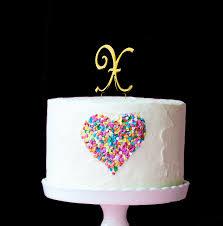 letter cake topper gold cake topper 7cm letter x bake