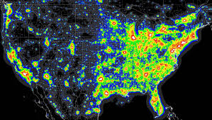 Michigan On Us Map by Michigan Light Pollution Map Michigan Map