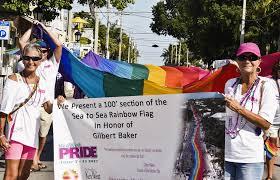 Key West Flag Celebrating Key West Where The Rainbow Flag Flies Year Round On
