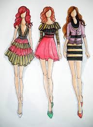 drawn fashion fashion designing basic pencil and in color drawn