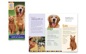 daycare brochure template kennel pet day care brochure template word publisher