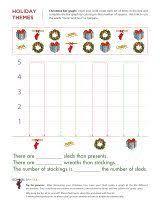 christmas math worksheets patterns bar graphs counting