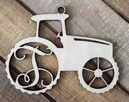 tractor ornaments etsy