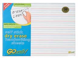handwriting sheets gowrite erase self adhesive handwriting sheets