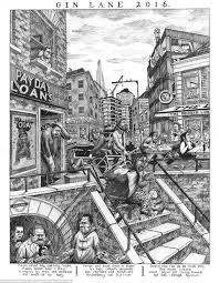 hogarth u0027s classic print gin lane reimagined 21st