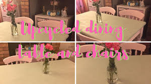 how i upcycled our second hand dining table and chairs youtube