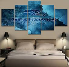 5 panel canvas print seattle seahawks rugby wall pictures for