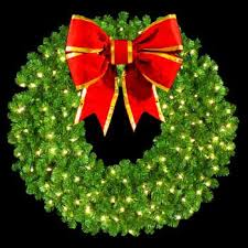 lighted outdoor wreaths decor