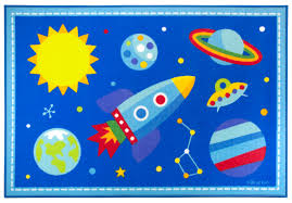 Outer Space Curtains Kids by Blue Outer Space Rocket U0026 Planets Kids Area Rug Medium Or Large