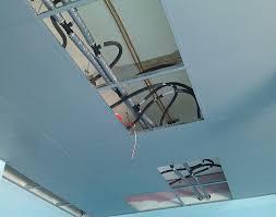 radiante a soffitto pannello radiante a quadrotti metallici sistemi bhs