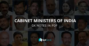 Portfolio Of Cabinet Ministers Of India New List Of Cabinet Ministers Of India Gk Notes In Pdf