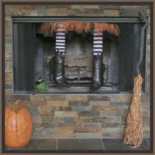 crafty in crosby fireplace witch halloween pinterest