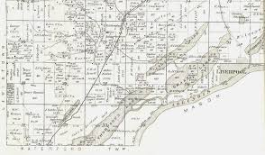 Illinois Township Map by 1895 Atlas Of Fulton County Illinois Liverpool Township