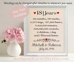 18th anniversary gifts 18th anniversary gift to gift to husband anniversary gift
