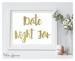 bridal shower signs shower gold date jar sign