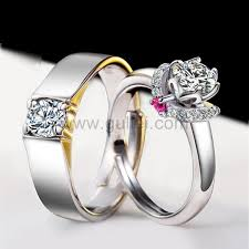 rings custom wedding images Custom names engraved silver perfect wedding rings set jpg
