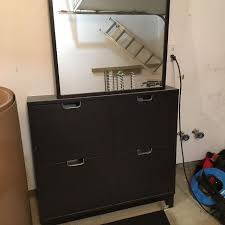 ikea stall find more ikea stall shoe cabinet with mirror and shelf for sale at