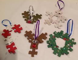 puzzle ornaments