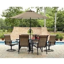 Ty Pennington Furniture Collection by Patio Dining Set 7 Pcs Swivel Chairs U0026 Table Garden Lawn Outdoor