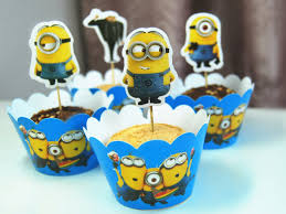 minions cake toppers minions cupcake wrapper despicable me minion topper picks