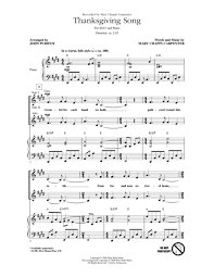 thanksgiving song sheet by chapin carpenter