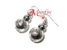 wars earrings wars bb 8 silver earrings moonfire charms