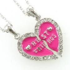 necklace for s day necklace s day hot pink heart pendant bff best