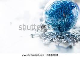 blue silver ornaments on bright stock photo 157328363