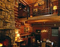 log home interior walls outstanding unique log cabin interiors using wrought iron handrail