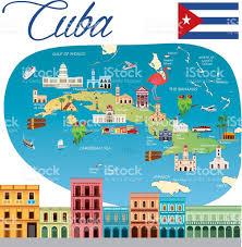 Map Of Caribbean Sea Islands by Cartoon Map Of Cuba Stock Vector Art 639507402 Istock