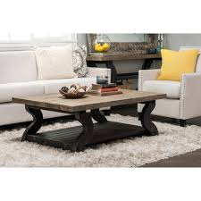 Natural Wood Coffee Tables Satur Natural And Black Reclaimed Wood Coffee Table By Kosas Home