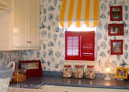 cabana style awning for the laundry room beyond the screen door