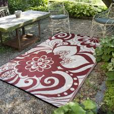 Discount Indoor Outdoor Rugs Prater Mills Indoor Outdoor Reversible Cranberry Red Cream Rug