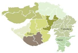 map of rajkot gujarat state map locations of rajkot vadodara and surat in gujarat