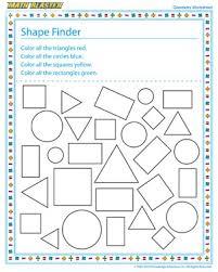 4th Grade Math Geometry Worksheets Shape Finder Printable Geometry Worksheets For 1st Grade Math