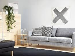 3er sofa grau ein wohnzimmmer mit karlstad 3er sofa mit bezug isunda in grau