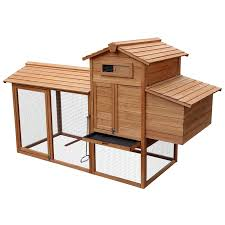 merax chicken coop rabbit hutch wood house pet cage for small